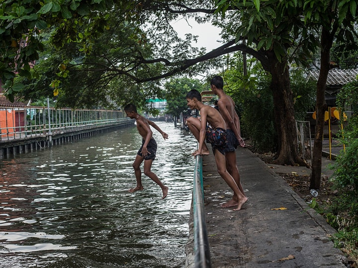 Bangkok canal dangerous places to swim