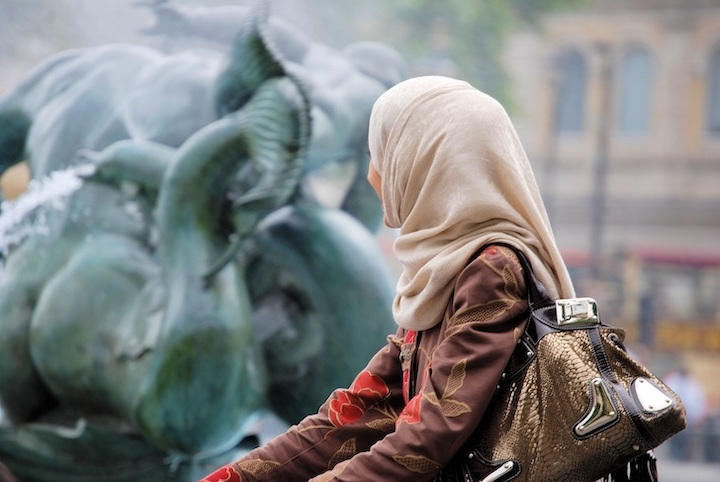 Women travelling to the Middle East.